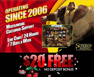 Superior Casino $20 Free Bonus